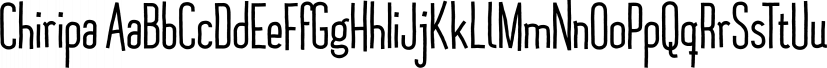 Chiripa font family by Huy!Fonts