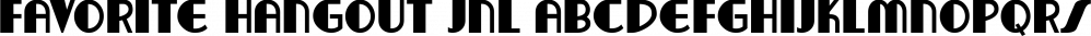 Favorite Hangout JNL font family by Jeff Levine Fonts