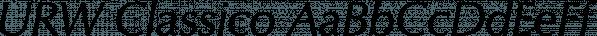 URW Classico font family by URW Type Foundry