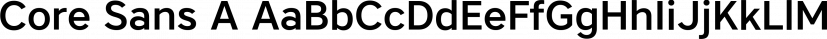 Core Sans A font family by S-Core