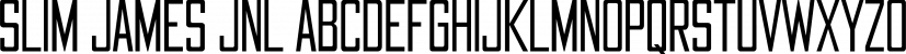 Slim James JNL font family by Jeff Levine Fonts