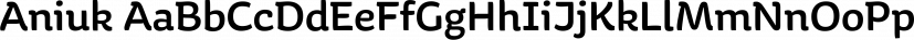 Aniuk font family by Typejockeys