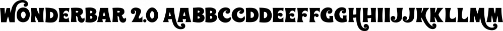 Wonderbar 2.0 font family by Sharkshock