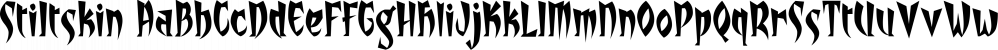 Stiltskin font family by Fonthead Design