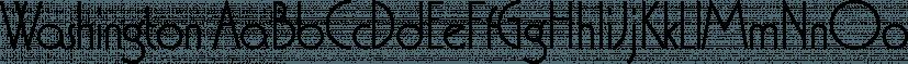 Washington font family by Type Associates