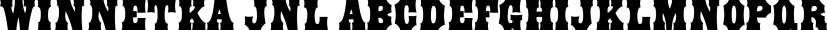 Winnetka JNL font family by Jeff Levine Fonts