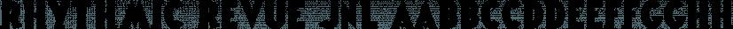 Rhythmic Revue JNL font family by Jeff Levine Fonts