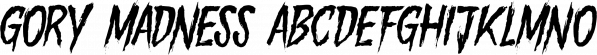 Gory Madness font family by Mirco Zett