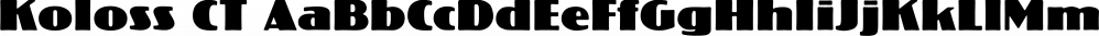 Koloss CT font family by CastleType
