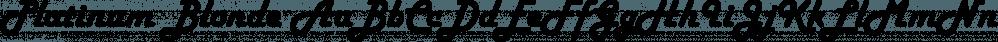 Platinum Blonde font family by FontSite Inc.