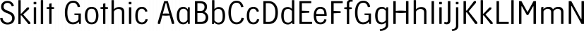 Skilt Gothic font family by Fontcaster