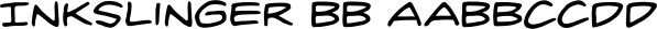 Inkslinger BB font family by Blambot