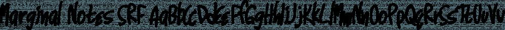 Marginal Notes SRF font family by Stella Roberts Fonts