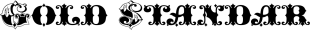 Gold Standard font family mini
