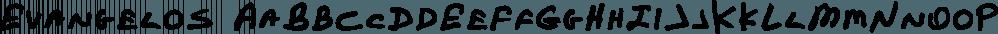 Evangelos font family by TEKNIKE