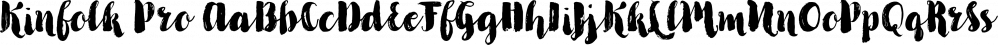 Kinfolk Pro font family by Fontforecast