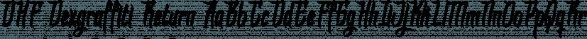 DHF Dexgraffiti Return font family by Majestype