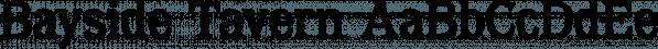 Bayside Tavern font family by FontMesa