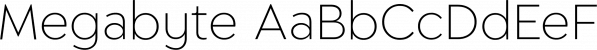 Megabyte font family by Type Atelier
