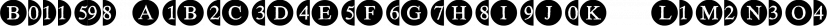 Bullets font family by Wiescher-Design