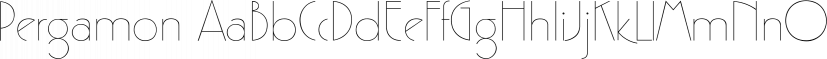 Pergamon font family by SoftMaker