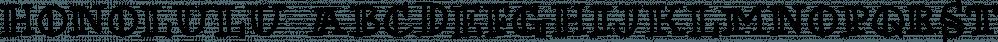 Honolulu font family by Ana's Fonts