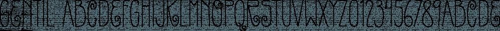 Gentil font family by PintassilgoPrints