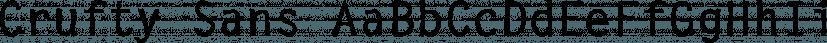 Crufty Sans font family by FontSite Inc.