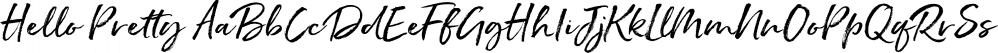 Hello Pretty font family by Nicky Laatz
