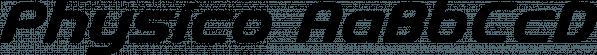 Physico font family by Jonathan Swinn