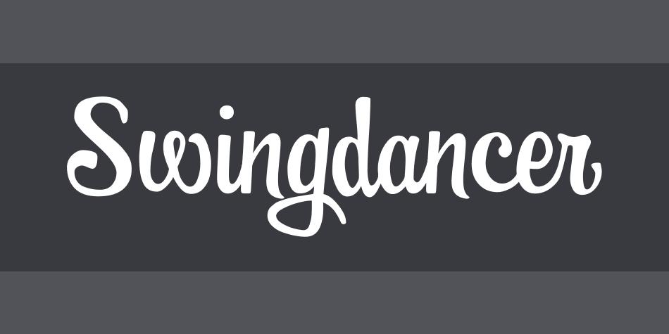 Swingdancer Font Poster