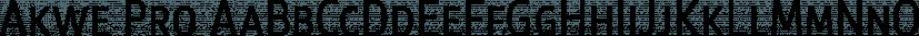 Akwe Pro font family by ROHH