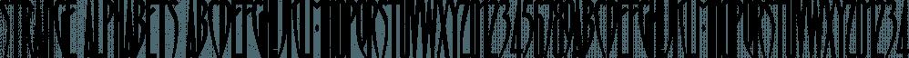 Strange Alphabets font family by Typodermic Fonts Inc.