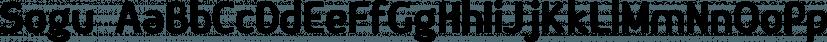 Sogu font family by Pedro Teixeira
