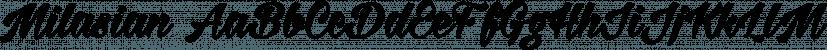 Milasian font family by Måns Grebäck