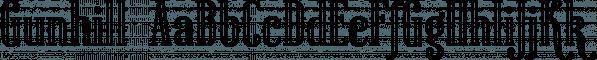 Gunhill font family by NREY