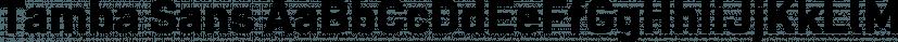 Tamba Sans font family by Dharma Type