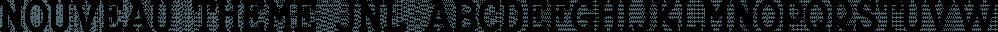Nouveau Theme JNL font family by Jeff Levine Fonts