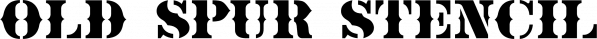 Old Spur Stencil JNL font family by Jeff Levine Fonts