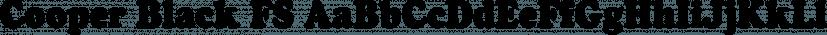 Cooper Black FS font family by FontSite Inc.