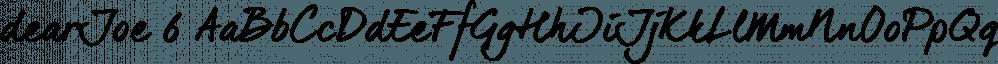 dearJoe 6 font family by JOEBOB Graphics