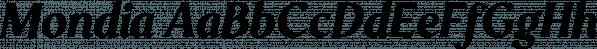 Mondia font family by Nasir Udin