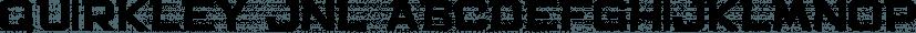 Quirkley JNL font family by Jeff Levine Fonts