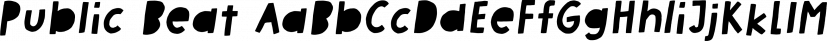 Public Beat font family by Pizzadude.dk