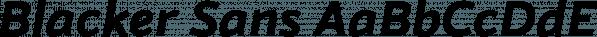 Blacker Sans font family by Zetafonts