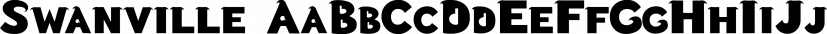 Swanville font family by Ingrimayne Type