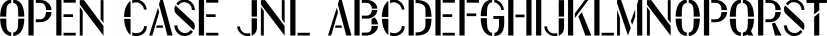 Open Case JNL font family by Jeff Levine Fonts
