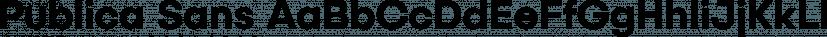 Publica Sans font family by FaceType