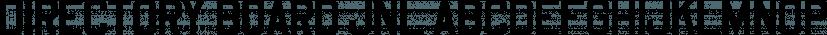 Directory Board JNL font family by Jeff Levine Fonts