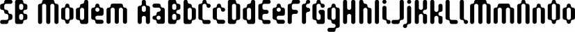SB Modem font family by SelfBuild Type Foundry